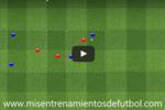 Ejercicio de rondo cuatro jugadores contra tres en tres subespacios 1