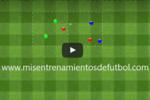 Ejercicio de tactica rondo en dos cuadrados de tres equipos de dos jugadores cada uno