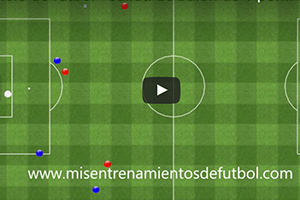 Ejercicio de táctica – Salida de balón cuatro defensas más un portero contra tres delanteros