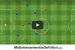 ejercicio de futbol partido aplicado siete jugadores mas un portero contra seis