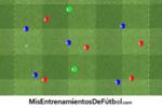 Eeercicio de futbol tecnica rondo 5 jugadores contra 5 mas 3 comodines