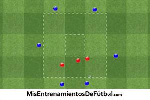 ejercicio de futbol para tapar lineas de pase interiores