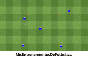 ejercicio de fútbol de técnica