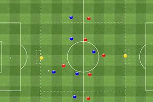 Partido Aplicado de 6 jugadores contra 6 más dos porteros en 3 carriles