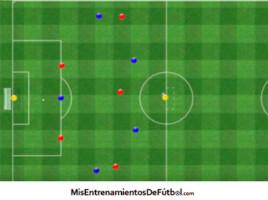 partido aplicado 6 contra 6 2 porteros