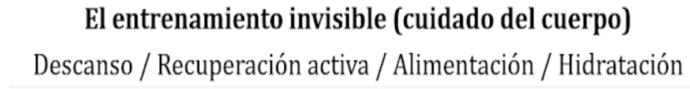 el entrenamiento invisible